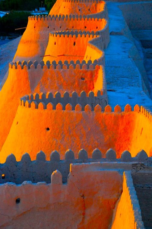 Wall of the Ark Fortress ~ Bukhara, Uzbekistan