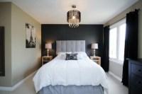 Dark grey accent wall   Master Bedroom Ideas   Pinterest