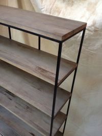 Industrial Rustic Shelving, wood and metal shelf