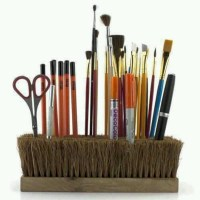 Paint brush holder | painting | Pinterest