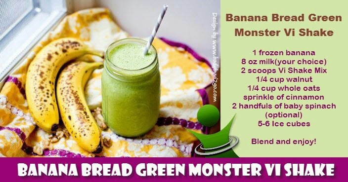 banana bread green monster vi shake vi shakes pinterest