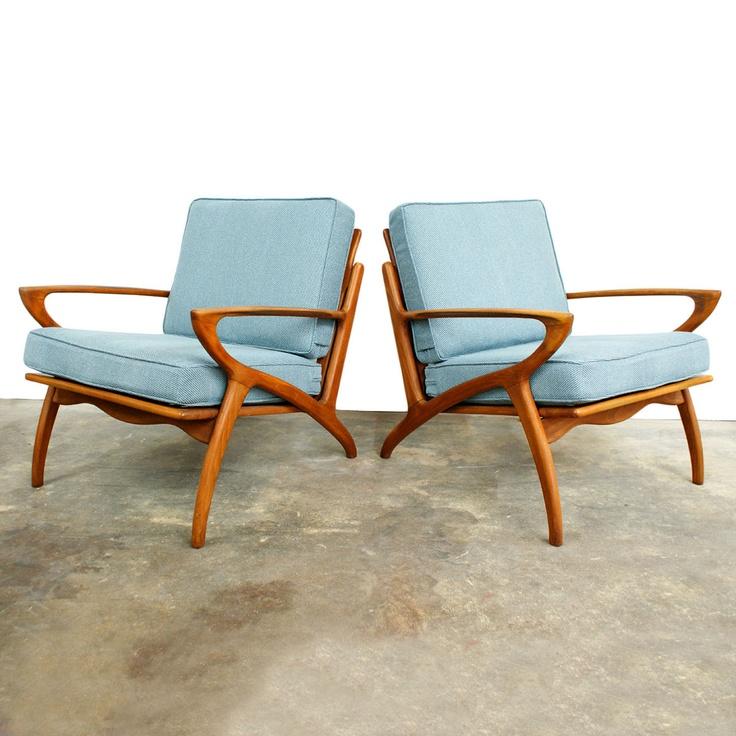 Danish Modern Lounge Chairs