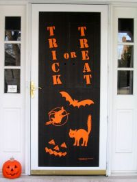 front door decor | Halloween | Pinterest