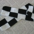 Donnas crochet designs blog of free patterns black amp white hat scarf