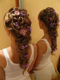 Rapunzel braided hair (cute) | hair /eyeshadows | Pinterest