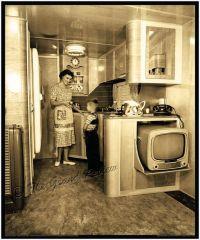 Vintage Trailer Print - 1950s Schult Mobile Home Interior ...