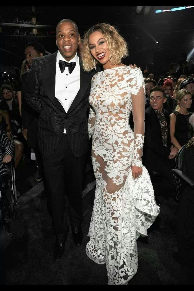 The Carters---Jay in Tom Ford and Bey in Micheal Costello #grammys