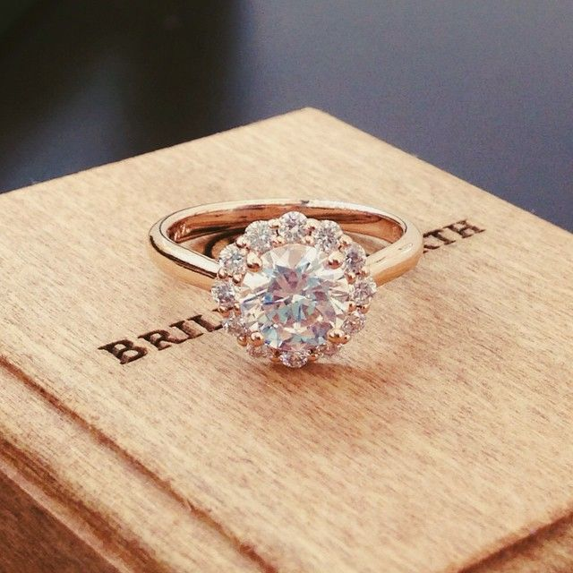 OH MY. I think this just might be it! Brilliant Earth Lotus Flower ring in rose gold, about 1 carat center diamond. I die.