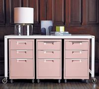 pretty pink filing cabinets | Office Space | Pinterest