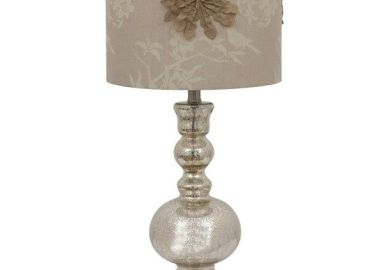Mercury Glass Lamp With Decorated Shade Target
