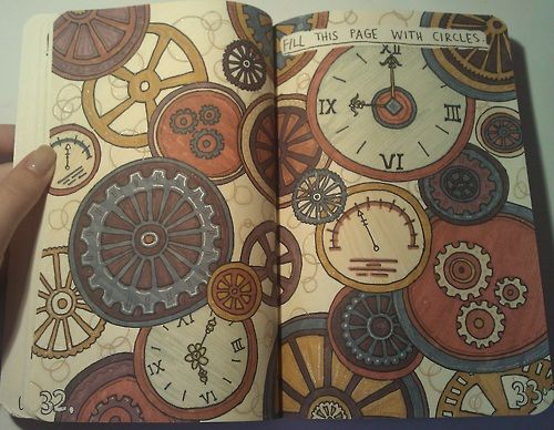 """Fill with Circles"" page: this picture made me think of another idea, gallifreyan!"