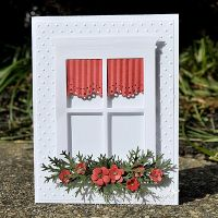 Card: Christmas Window | Window cards | Pinterest