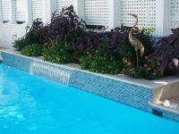 Glass pool waterline tile | Pool | Pinterest
