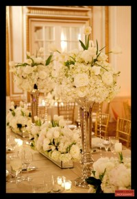 White And Gold: White And Gold Flower Centerpiece