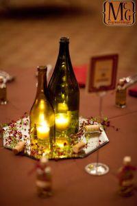 wine bottle centerpiece | center piece | Pinterest
