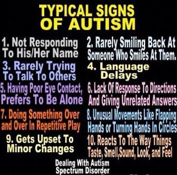 Typical Signs Of Autism  Autism  Pinterest
