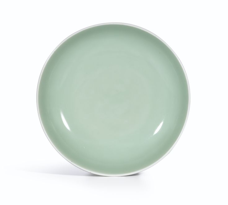 A fine celadon-glazed dish, Seal mark and period of Qianlong