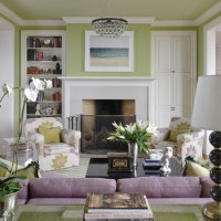 Lime green and lavender living room | Decorating the ...