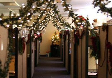 Christmas Cubicle Decorations Au Pinterest