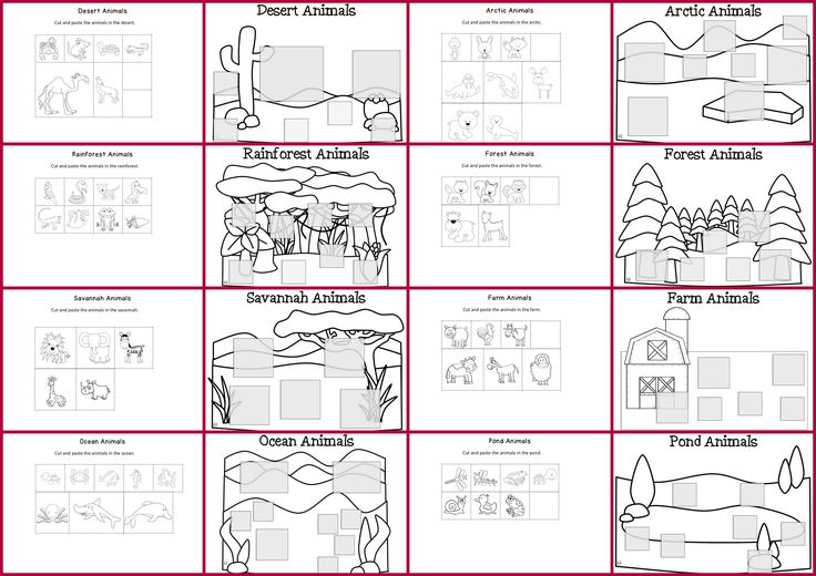 Free habitats worksheets coloring pages