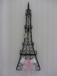 wrought iron Eiffel Tower wall decor | Bathrooms | Pinterest