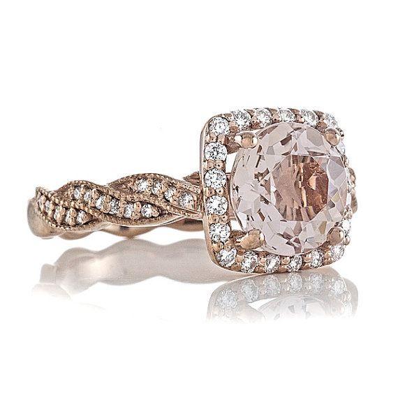 Rose Gold Rings: Peach Morganite Rose Gold Rings