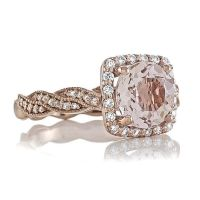 Rose Gold Rings: Peach Morganite Rose Gold Rings