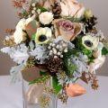 Winter bridesmaid bouquet wedding flowers pinterest