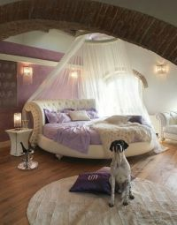 Round bed and canopy | private quarters | Pinterest