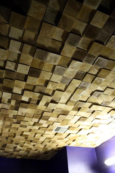 Look! Wooden Ceiling Treatment