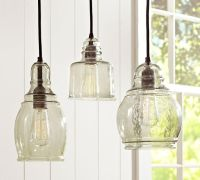 Pottery Barn Pendant lighting.