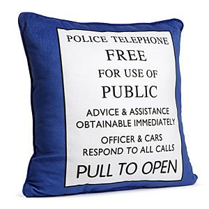 ThinkGeek :: Exclusive Doctor Who TARDIS Pillow