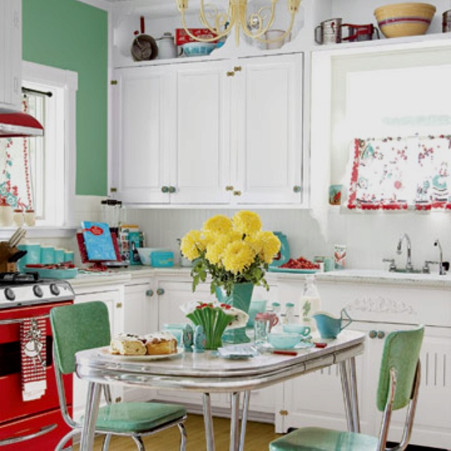 50s style kitchen  Dream Home  Pinterest