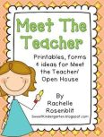 Tips, Photos, Forms & Printables! Everything you need to feel prepared and confident for meet the teacher/open house!