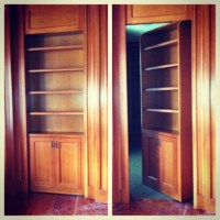 Secret door bookcase.