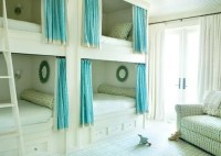 bunk beds with privacy curtains | Interiors | Pinterest