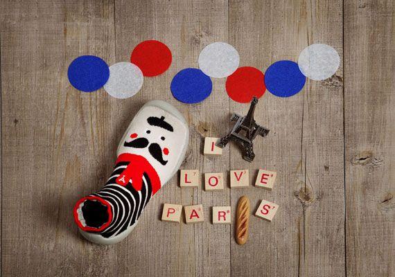"""""""I love Paris"""" Slippers socks Collégien  Chaussons chaussettes Collégien  http://collegien-shop.fr/"""
