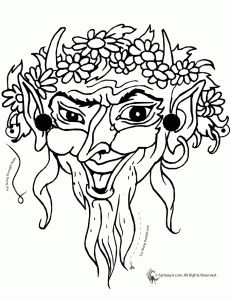 Greek Theatrical Mask Coloring Page Coloring Pages