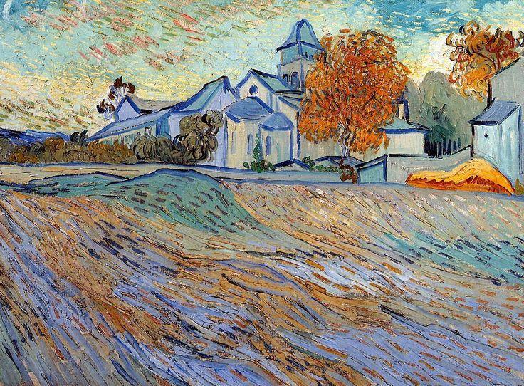 Vincent van Gogh: View of the Church of Saint Paul de Mausole.