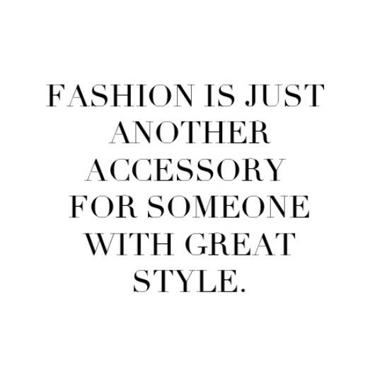 Fashion is just another accessory... Via Another Fashion Book