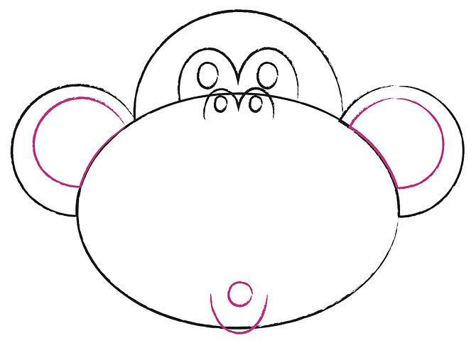 Cómo dibujar una cara de mono de caricatura