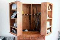 Hidden gun cabinet | For the Home | Pinterest