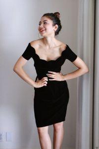 Black Velvet Wedding Dress. Off The Shoulder Gown. Dress ...