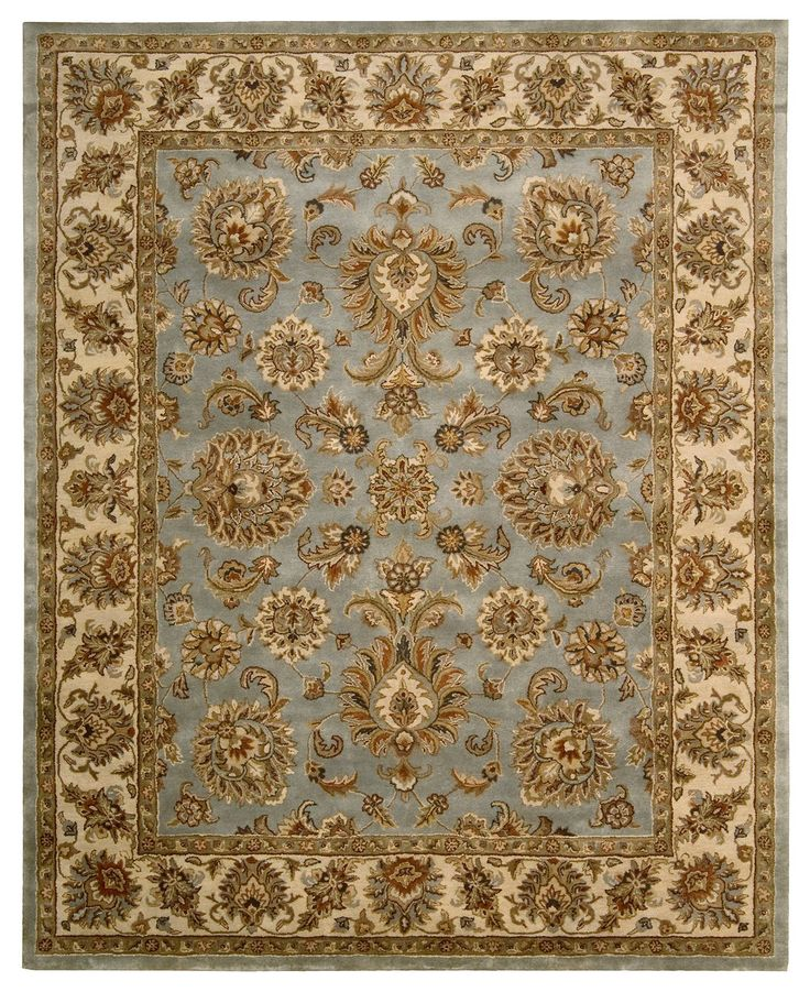 Nourison Area Rug Rajah Collection JA32 Indore Light Blue 83 x 11