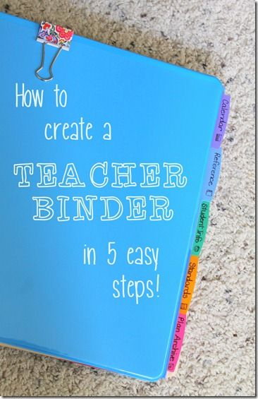 I am so excited to try using a teacher binder this semester to help me stay organized! Great tips for making it fit what you need. #teacherbinder