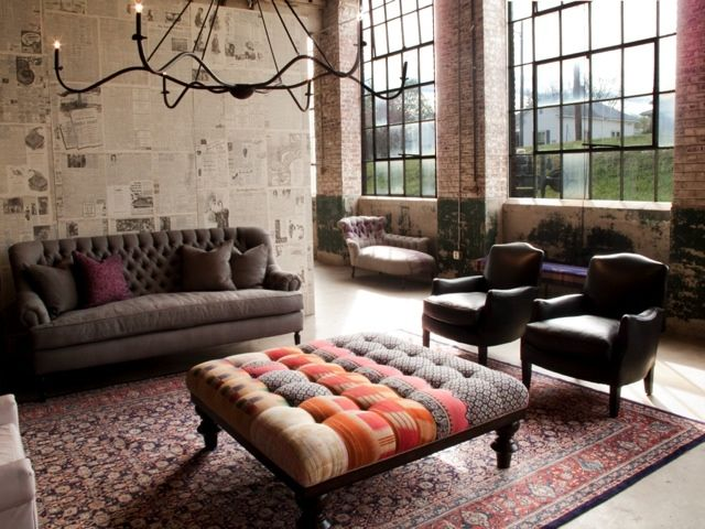 industrial living room.