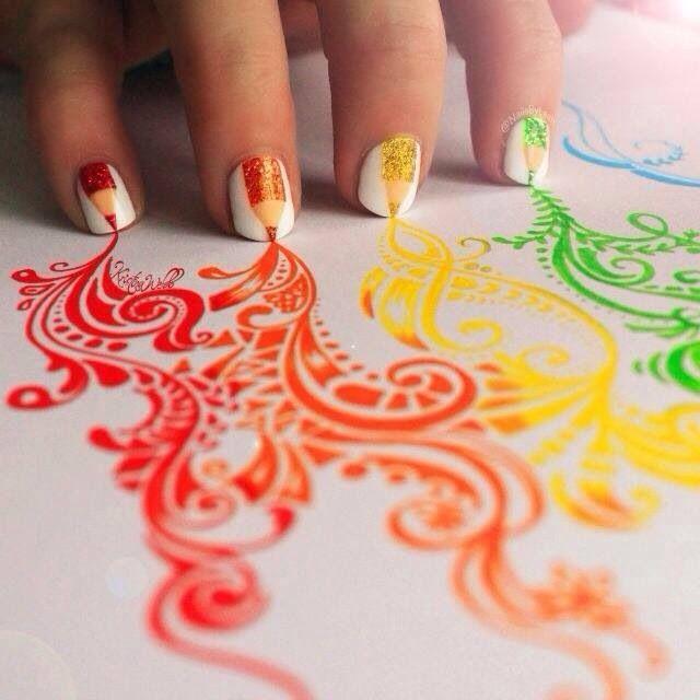 Really cool nail art