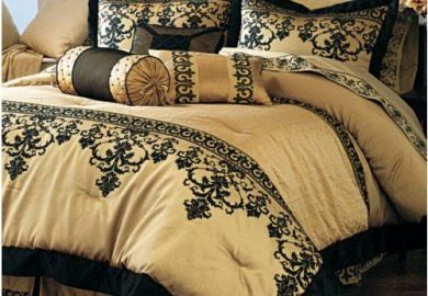 Black And Gold Bedding