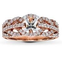 Gold Wedding Rings: Rose Gold Engagement Rings Jared