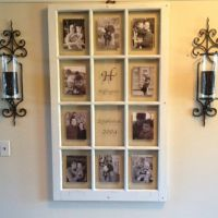 Old window pane with pictures | craft ideas | Pinterest